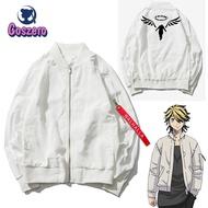 Hanemiya Kazutora Cosplay Tokyo Revengers Costumes White Coat Valhalla Uniform Baseball Coat Mikey Draken Halloween
