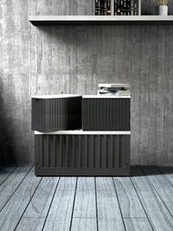 樹德 貨櫃收納椅/FB-6432B/黑 收納箱 收納櫃 貨櫃箱 儲物箱