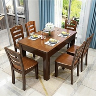Solid Wood Dining Tables and Chairs Set Modern Simple Living Room Dining Table Restaurant Dining Table Small Apartment Rectangular Dining Table