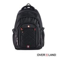 【OverLand】美式十字軍-極致美型設計交叉菱格紋後背包(3071)