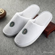 slipper 【10Double Pack】Disposable Slippers Guest Slippers Coral Fleece Hotel Non-Slip Custom Men's Home Indoor Hotel