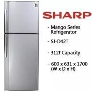 SHARP 2 Door Fridge 312L Fridge SJD42TSL * 1 Year Local Warranty!