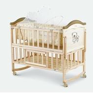 實木兒童床 嬰兒床 床邊床 搖床  小床  大床(附蚊帳)