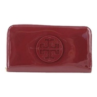 Tory Burch Patent Leather Continental Wallet (equestrian orange)