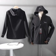 安德瑪19S新款戶外1秋冬季戶外運動保暖軟殼兒戶外衝鋒衣