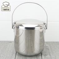 Lucuku雙層不銹鋼隔熱提鍋14cm隔熱便當盒附菜盆-大廚師百貨