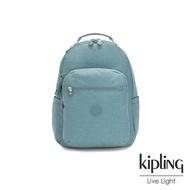 Kipling 冰霜綠機能手提後背包-SEOUL