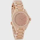 (預購)【COACH】玫瑰金時尚晶鑽鋼帶女錶(14502346)
