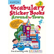 Kumon Vocabulary Sticker Books Around Town Vocabulary Stickers English Activity Book What's in the City Fun Word Enlightenment English Original Imported Children's Books