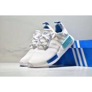 現貨Adidas Nmd Boost R1 白藍 粉藍 湖水藍 網面 聖保羅 3M 情侶鞋 S75235 正版
