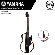 PRE-ORDER (Nov/Dec onwards) Yamaha SLG200N (Translucent Black) Silent Guitar Nylon String Acoustic Guitar with Durable Carrying Bag - Super-compact Ultra-quiet performance - Absolute Piano - The Music Works Store GA1
