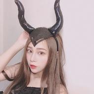 現貨 💓 黑魔女 沈睡魔咒 造型髮帶 髮箍 牛角