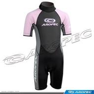 熱銷游泳保暖衣-兒童泳訓防寒保暖泳衣-連身型-限量粉紅色