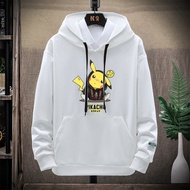 Hoodies Men Anime One Piece Hoodie Sweatshirts Print Pikachu Hoody Long