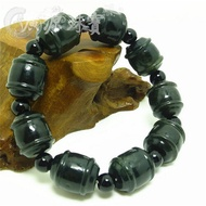 Television shopping Xinjiang and farmland the green jade bracelet handicraft carvings revive old customs to transport a man's hand of bead bracelet with farmland jade a string - intl