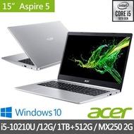 【Acer 宏碁】特仕版 A515-54G-56WR 銀色 15.6吋獨顯筆電(i5-10210U/4G/1TB/MX250獨顯/+8G+512G SSD含安裝)