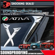 Perodua ATIVA Toyota Raize Daihatsu Rocky Rear Window Spoiler Side Cover