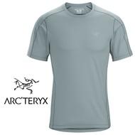 【ARCTERYX 始祖鳥 加拿大】Motus 圓領短袖排汗衣 登山排汗衣 機能衣 男款 機械灰 (L07156300)