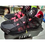 Adidas Dame 6 黑紅籃球鞋 US10 非kobe curry LeBron