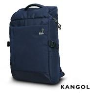KANGOL 英式學院風商務防盜機能15吋筆電後背包(藍)