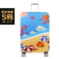 18-32  Tourism Themeกระเป๋าเดินทางผ้ายืดผ้าคลุมครอบรถเข็นชุดป้องกันกระเป๋าเดินทางป้องกันอุปกรณ์คลุมกระเป๋าเดินทาง-Sunshine Beach