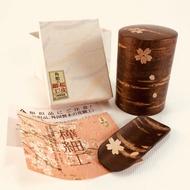 京都帶回~ 全新 角館 樺木細工 櫻皮細工 茶葉罐 茶粉罐 茶罐 茶入 (小)