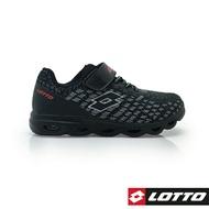 LOTTO樂得-義大利第一品牌 童款GALAXY銀河編織風動跑鞋 [0030] 黑【巷子屋】