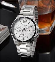 Win Watch Shop Casio Standard นาฬิกาข้อมือผู้ชาย สายสแตนเลส รุ่น MTP-1374D-7AVDF-ของแท้ รับประกันสินค้า 1 ปีเต็ม (ส่งฟรี เก็บเงินปลายทาง)