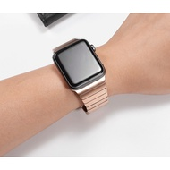 Luxury สายนาฬิกา Apple Watch เหล็กกล้าไร้สนิม สาย Applewatch Series 6 5 4 3 2 1Apple Watch SE size 38mm 40mm 42mm 44mm stainless steel สายนาฬิกาข้อมือ for apple watch Series 6 Series 5 Series 4 Strap