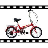 促銷 年終回饋  BAOLI  16吋 小折 六段 shimano 變速 折疊車  ~盛恩單車~