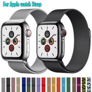 Milanese LoopสำหรับApple Watch Series 1 2 3 4 5 BandสำหรับI Watchสายสแตนเลสหัวเข็มขัดแม่เหล็ก 38 มม.40 มม.42mm44mmสร้อยข้อมือ