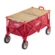Coleman Outdoor Wagon Wood Roll Table