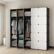 Mr.Box【004019-01】25格25門5掛 深47cm百變組合衣櫥收納櫃(黑白款)