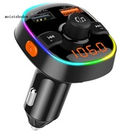 MISD QC3.0 Bluetooth 5.0 Car Radio FM Transmitter MP3 Player Adapter Dual USB Charger