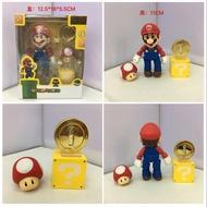 *巡寶家* SHF 可動 超級瑪麗 超級瑪莉 馬力歐 瑪莉歐 Mario 蘑菇 PVC 公仔 模型 擺件 辦公室小物
