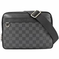 Louis Vuitton LV N40087 Trocadero PM 黑灰棋盤格紋斜背信差包/郵差包_現貨