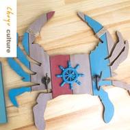 珠友 GB-50606 螃蟹造型掛勾/牆上裝飾/壁掛衣帽架/牆壁掛勾