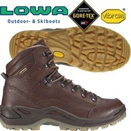 【Lowa】男Gore-Tex中筒健行鞋/Renegade DLX GTX黃金大底登山鞋/310948-0358棕色