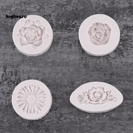 Bh c現貨立體心型矽膠模具玫瑰花牡丹花翻糖蛋糕巧克力手工皂蠟燭模具