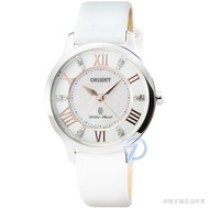 Orient Watch Lady Rose Quartz Belt Watch - White/fub 9 B 005 W