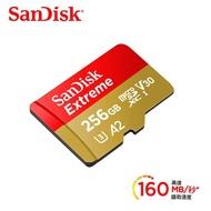 【SanDisk 晟碟】Extreme microSDXC UHS-I V30 A2 256GB 記憶卡 公司貨