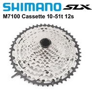 2021-newShimano SLX M7100 DEORE M6100 XT M8100 Cassette 12 Speed Freewheel Cogs Mountain Bike MTB 10-51T 10-45T Cassette