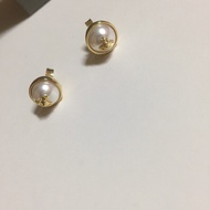 Vivienne Westwood 新款金邊珍珠小耳環 全新