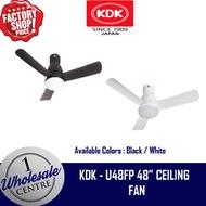 (F2C) KDK U48FP 48 INCH DC MOTOR CEILING FAN WITH 18 WATT LED LIGHT
