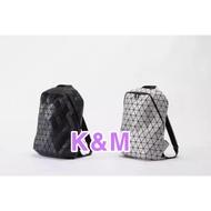 K&M 三宅一生3 ISSEY #MIYAKE BAO #BAO #黑色#真皮 #牛皮 #菱格#後背包