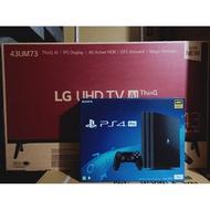 【免卡分期】SONY PS4 PRO單機組+LG 4K聯網電視  43吋43UM7300 全新商品