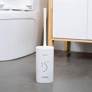 北歐風格衛生間馬桶刷帶底座清潔無死角廁所潔廁刷子長柄軟毛套裝  HM 居家物語