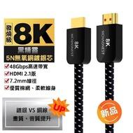 【MCHAONEST】2米鍍銀 8K HDMI 2.1版高清 黑鋁合金頭高匹配(完美支援PS5)