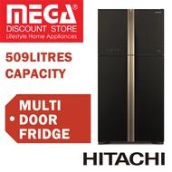 HITACHI R-W635P4MS BIG FRENCH MULTI DOOR FRIDGE 509L / WITH FREE RICE COOKER