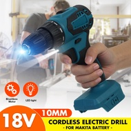 18-Volt 10mm drill Electric Cordless Drill Driver tools LED For Makita